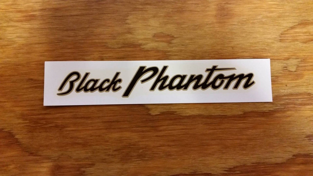 SCHWINN BLACK PHANTOM CHAIN GUARD DECAL AUTHENTIC