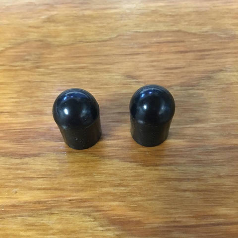 BICYCLE SISSY BAR CAPS BLACK RUBBER FIT SCHWINN STINGRAY KRATE & KICK STANDS