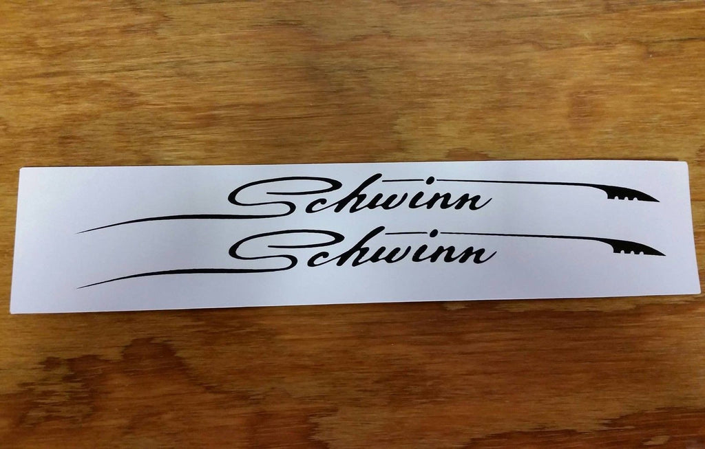 SCRIPTED FEATHER DECALS FOR SCHWINN BIKES BLACK