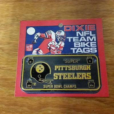 DIXIE NFL PITTSBURGH STEELERS SUPER BOWL NFL CHAMPS BICYCLE PLATE TAGS