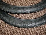 BICYCLE TIRES 18 X 1.75  BLACK FIT MANY KIDS BIKES NEW SET 18 INCH