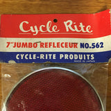 "BICYCLE REFLECTOR 7"" JUMBO FITS SCHWINN STINGRAY & OTHERS VINTAGE BIG"
