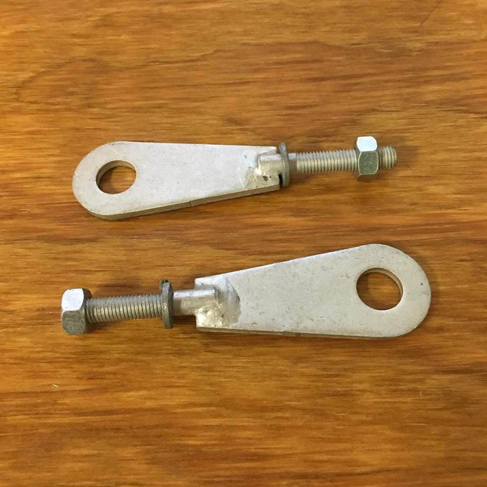 WHIZZER BICYCLE CHAIN ADJUSTERS NEW COMPLETE PAIR