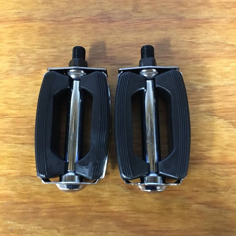 "BICYCLE BOW PEDALS FOR HUFFY SEARS AMF ROADMASTER SCHWINN BIKES 1/2"" THREAD"