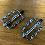 "BICYCLE TWIST CHROME PEDALS 1/2"" CUSTOM MADE FIT CHOPPER BIKE & OTHERS QUALITY"