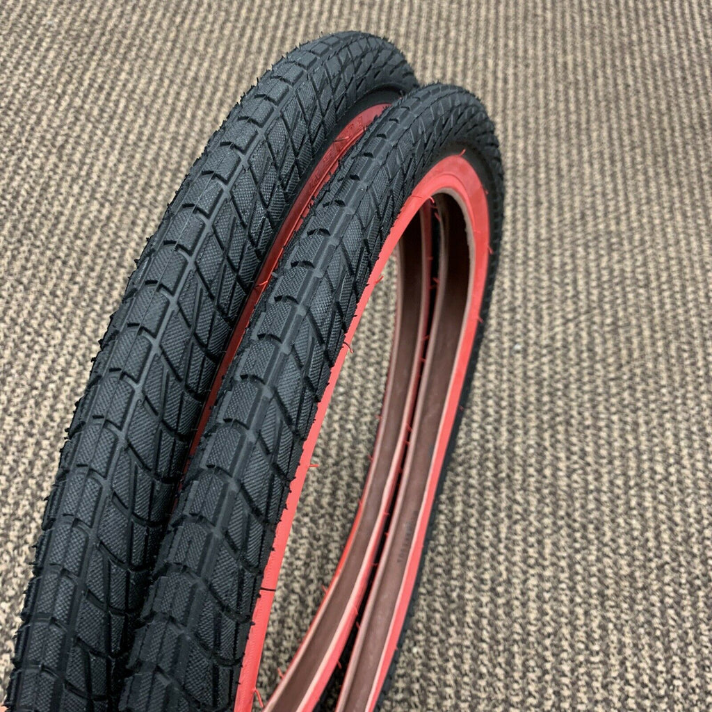 RED WALL 20X1.95 BMX BIKE BICYCLE TIRES #260348