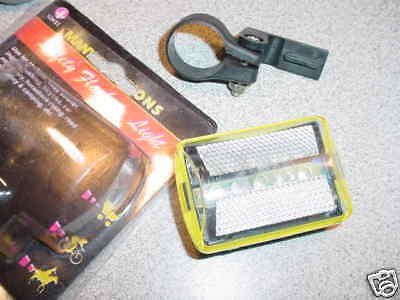 BICYCLE SAFETY FLASHING LIGHTS 6 FUNCTIONS BRITE LED