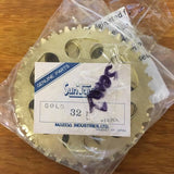 BICYCLE SPROCKET SUNTOUR GOLD 32 TEETH OLD SCHOOL NOS JAPAN