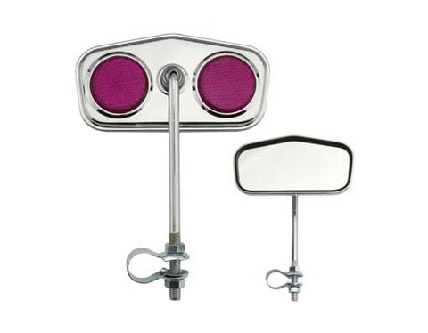 Diamond Mirror Chrome Purple Reflectors