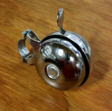 BICYCLE REVOLVING BELL LOUD QUALITY STEEL CHROME FIT SCHWINN AND OTHERS