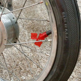 SCHWINN TIRE FLAG VALVE CAPS GLITTER RED FOR APPLE KRATE AND OTHERS