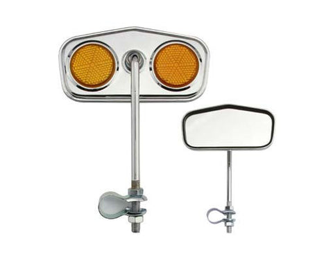 Diamond Mirror Chrome Amber Reflectors