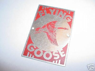 BICYCLE HEAD BADGE FLYING GOOSE NOS NEVER USED