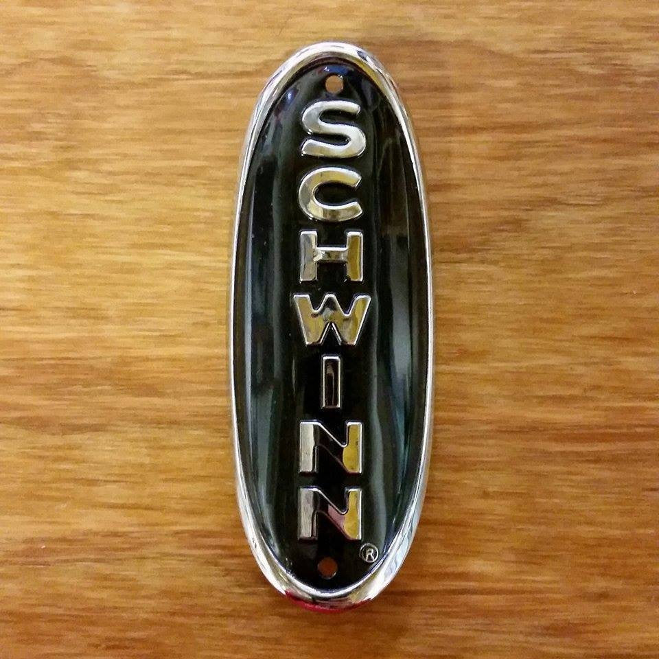 SCHWINN HEAD BADGE BLACK PHANTOM PANTHER 1950S BIKES & OTHERS