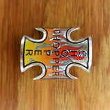 BICYCLE HEAD BADGE NAME PLATE CHOPPER WITH FLAMES