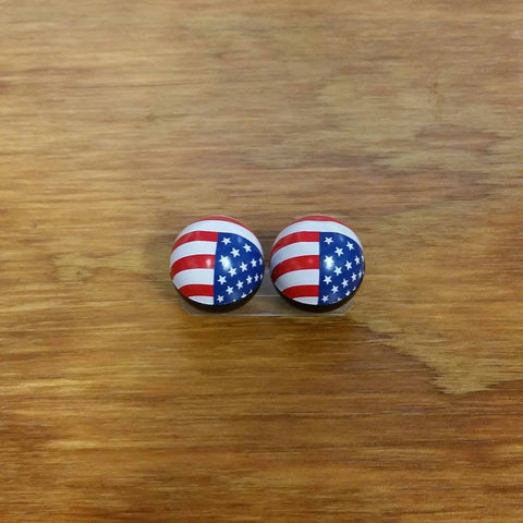 USA BICYCLE TIRE VALVE CAPS FLAG FIT CARS TRUCK MOTORCYCLES & OTHERS