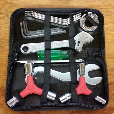 BICYCLE TOOL SET POUCH GREAT FOR SCHWINN BIKES & OTHERS