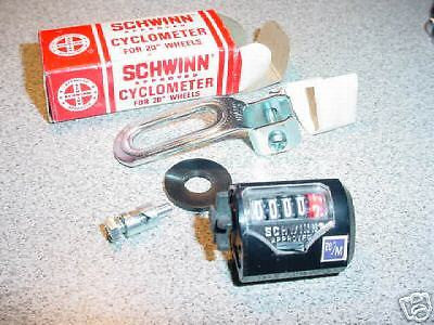 SCHWINN BICYCLE CYCLOMETER FOR 20 IN STING RAY OTHERS RARE NOS