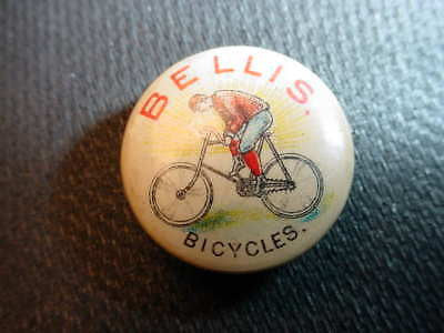 BELLIS BICYCLES 1890S VINTAGE LAPEL PIN RARE BIKE