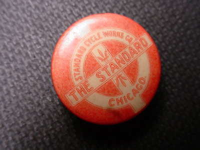 THE STANDARD  BICYCLES 1890S VINTAGE LAPEL PIN RARE