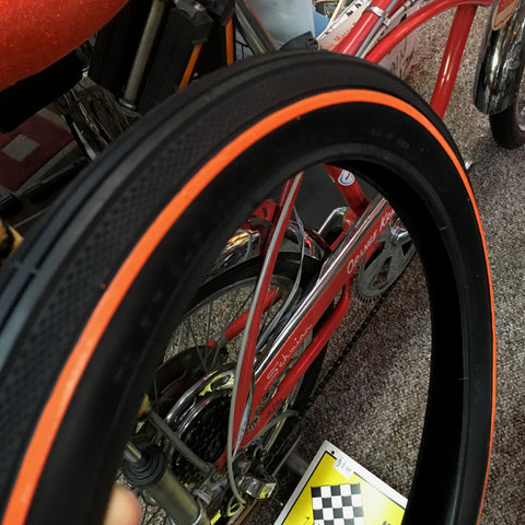 SCHWINN STINGRAY ORANGE KRATE ORANGE LINE FRONT TIRE NEW