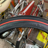 SCHWINN STINGRAY APPLE KRATE RED LINE FRONT TIRE 16 X 1-3/4 S-7 NEW