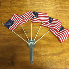 AMERICAN FLAG SET FOR SCHWINN BICYCLES SEARS MURRAY AND OTHERS