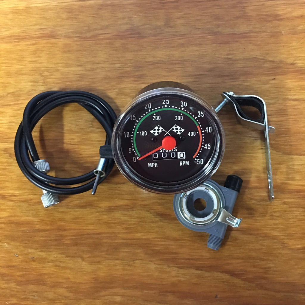 SPEEDOMETER FOR BICYCLES FIT SCHWINN OTHERS COMPLETE