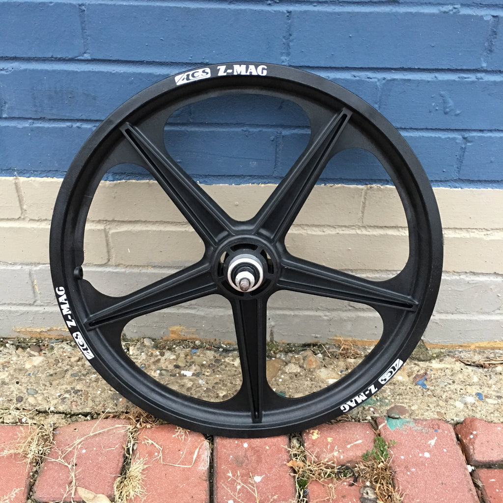 "ACS Z MAG 20"" REAR WHEEL 5 SPOKE 3/8 AXLE BLACK"