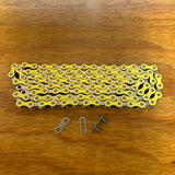 BICYCLE BMX CHAIN FOR 20 INCH BIKES SCHWINN OTHERS NOS YELLOW