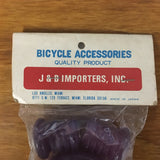 BICYCLE HANDLE BAR TAPE & PLUGS VIOLET / PURPLE FIT SCHWINN HUFFY AND OTHERS