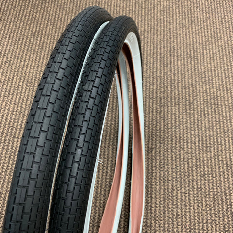 BICYCLE TIRES FIT SCHWINN FLEET CORVETTE TYPHOON 26 X 1 3/4 SCHWINN APPROVED