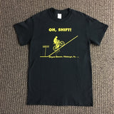 BICYCLE HEAVEN OHH SHIFT CANTON AVE T-SHIRT BLACK WITH GOLD LETTERING
