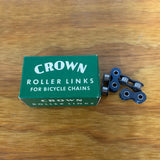 1 BOX OF CROWN ROLLER LINKS FOR BICYCLE CHAINS MADE IN GERMANY VINTAGE