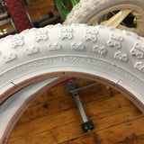 BICYCLE TIRES WHITE 12 1/2 X 2 1/4 FOR KIDS BIKES CARTS OTHERS NEW