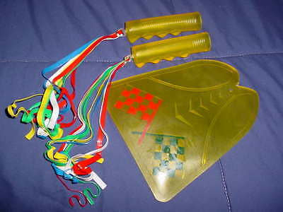 BICYCLE FENDER GUARD MUD FLAP WITH STREAMERS & GRIPS VINTAGE  NOS