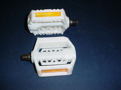 BICYCLE PEDALS UNION WHITE FOR BMX STYLE OTHERS  NOS