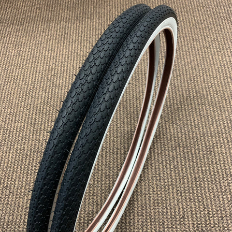 BICYCLE TIRES FIT SCHWINN CORVETTE JAGUAR TYPHOON FLEET 26 X 1-3/4 S-7 NEW