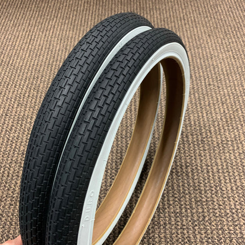 BICYCLE TIRES BRICK TREAD 20 X 1.75 FIT AMF SEARS ROAD MASTER OTHERS