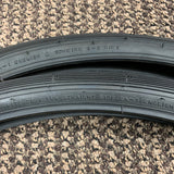 BICYCLE TIRES BLACK WALLS FIT SCHWINN 26 X 1-3/8 X 1-1/4 S-6 RARE NEVER USED