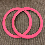 BICYCLE TIRES 26 X 2.125 BRICK TREAD PINK FIT SCHWINN PHANTOM HUFFY AND OTHERS