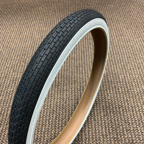 BICYCLE TIRE WHITE WALL FIT SEARS HUFFY AMF ROADMASTER 20 x 1.75 BRICK TREAD