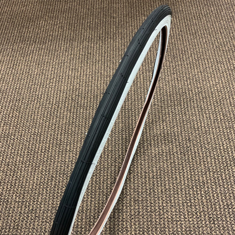BICYCLE TIRE WHITE WALL FIT SCHWINN 26 X 1-3/8 X 1-1/4 S-6 RARE NEVER USED