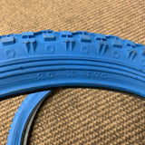 BMX BICYCLE TIRE SET VINTAGE BLUE 20 INCH BIKES NOS NEW