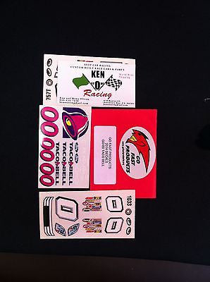 GO FAST #00 Taco Bell Stock Car Decals W/ PAR-757 F,D&T Side Stickers & Grill