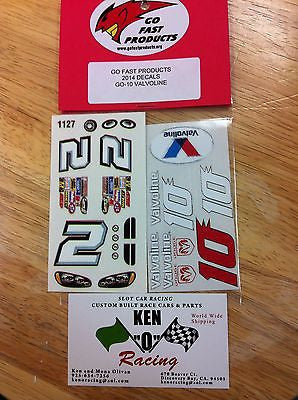 GO FAST #10 Valvoline Stock Car Decals W/ PAR-757 D Side Stickers & Grill