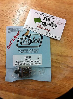 PRO SLOT Speed FX 2105-45  Bal BP W/700S Outlaw S16D Outlaw Arm Slot Car Motor