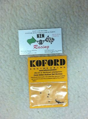 Koford M621  Gold Billet Hollow Set Tire And Gear Allen Screws 12 Pack