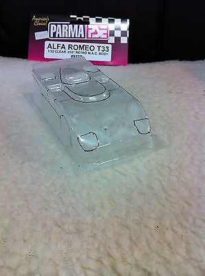 Parma 927B 1/32 Scale CLEAR  Alfa Romeo T33 Retro MAC .010 Body