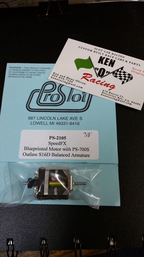 PRO SLOT Speed FX 2105-38  Bal BP W/700S Outlaw S16D Outlaw Arm Slot Car Motor